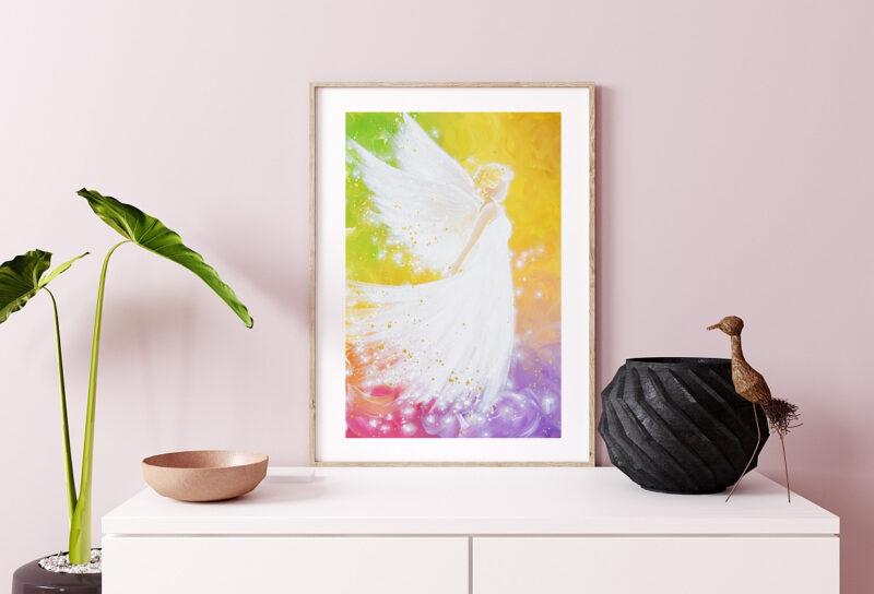 Engel Kunstfoto in bunten Farben