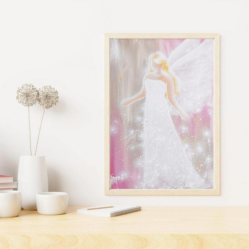 Engel Kunstfoto in zarten Farben
